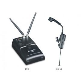 Безжичен инструментален микрофон  с гъша шия BM-V2
