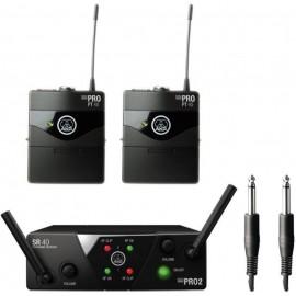 Безжичен инструментален микрофон AKG WMS40 MINI2 INSTRUMENTAL двоен