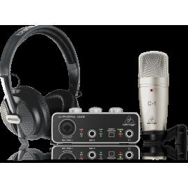 Комплект за студио - микрофон + слушалки + звукова карта U-PHORIA STUDIO