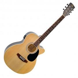 Електро акустична китара Soundsation Mini jumbo YELLOWSTONE-MJCE-NT