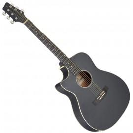 Електро-акустична китара за лява ръка SA35 ACE-BK LH