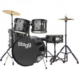 Комплект акустични барабани TIM122B BK със стойки,  чинели, столче и палки