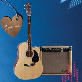Електро акустична китара с китарен усилвател Soundsation YELLOWSTONE - DNCE- NT