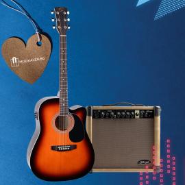 Електро-акустична китара с китарен усилвател Soundsation YELLOWSTONE - DNCE - SB 4/4