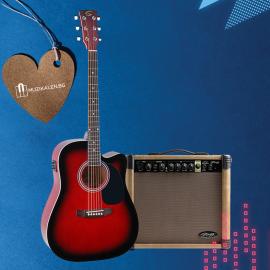 Електор акустична китара с китарен усилвател Yellowstone DNCE- RDS