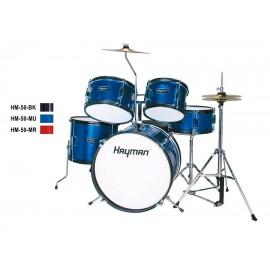 Комплект барабани за деца HM-50-MU с чинели столче и стойки