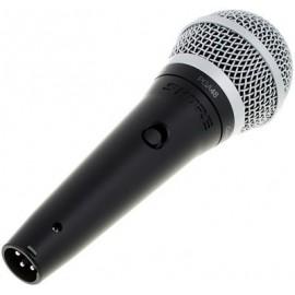 SHURE Вокален Кабелен Динамичен микрофон черен PGA48-XLR
