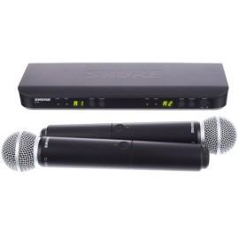 SHURE Двоен вокален безжичен микрофон BLX288E/SM58