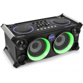 VDJ800 - Playstation 240W USB/SD/BT Тонколона с батерия вход за микрофон и китара LED ефекти